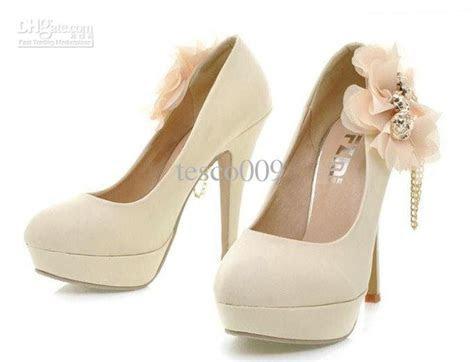 Hot, 2012 Women New High Heels , Chiffon Flower Decoration