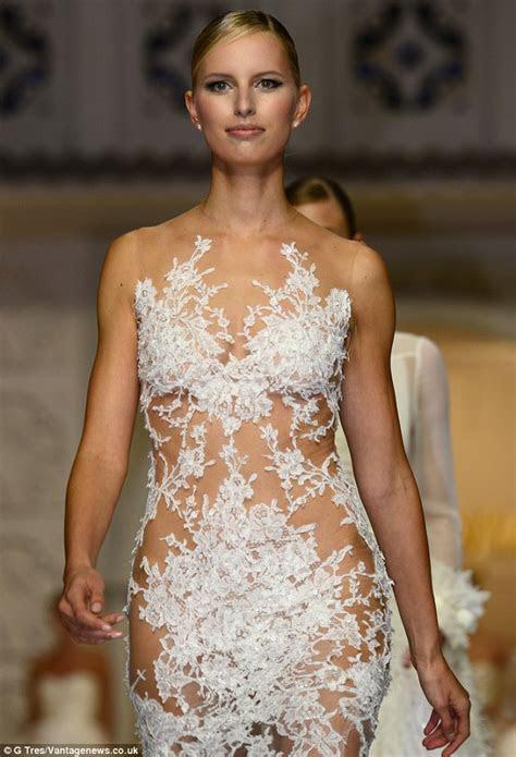 Karolina Kurkova Models at Barcelona Bridal Week   Arabia