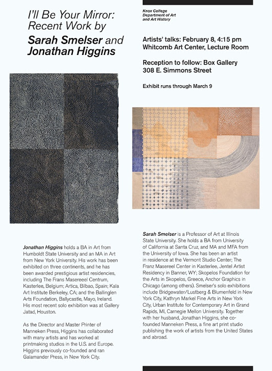 Exhibition: Sarah Smelser and Jonathan Higgins at Knox College