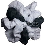Thermal Scrunchies (Black and White Assortment) / 9 piece Pack