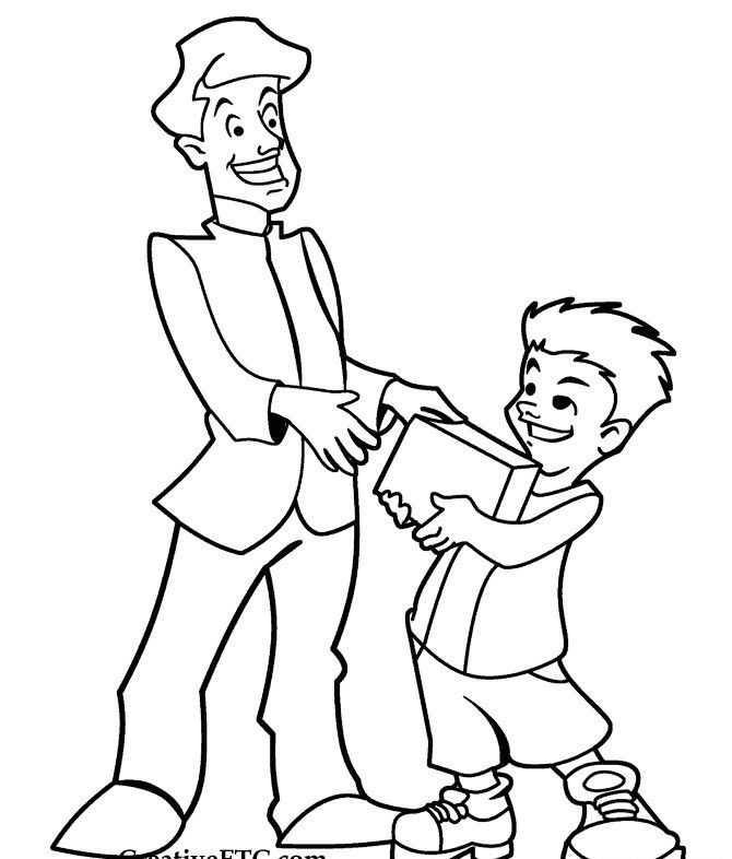 Babalar Gunu Boyama Sayfalari 67 Okul öncesi Etkinlik