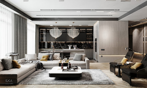 104 Luxurious Living Rooms Luxury Modern In Grey And Gold