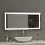 "Illuminated LED 24"" x 48"" Bathroom Mirror by Suite Mirror"