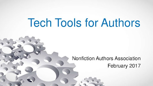 3 Tech Tools for Authors
