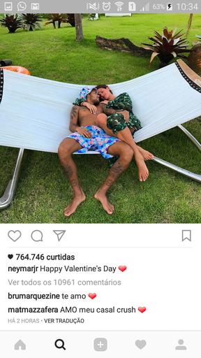 Bruna Marquezine comenta em post de Neymar (Foto: Reprodução / Instagram)