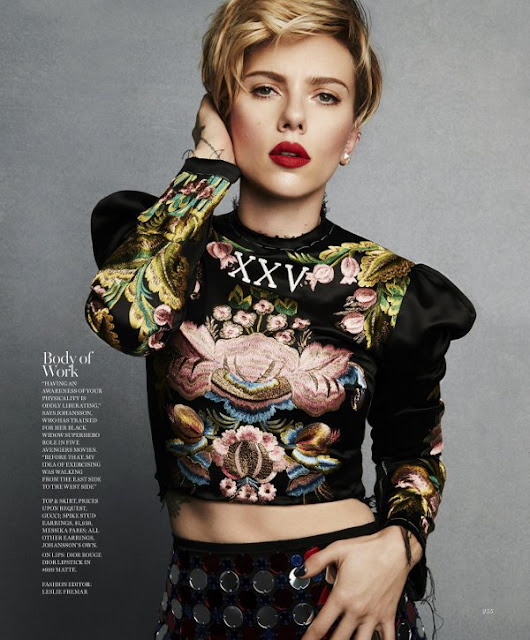 Scarlett Johansson Marches to Cover Marie Claire