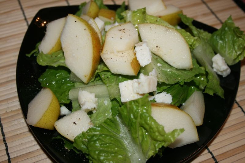 Bartlett Pear and Goat Cheese Salad