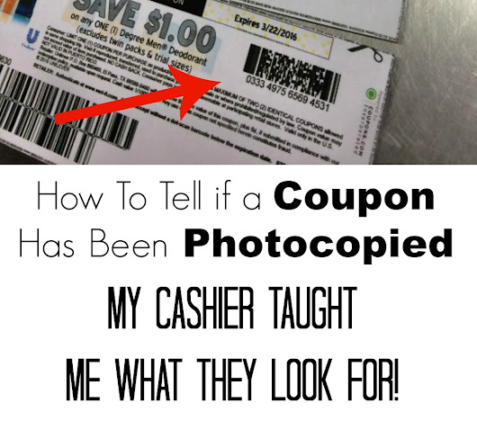 How To Tell if a Coupon has Been Photocopied - My Cashier Taught Me What They Look For! | Happy Deal - Happy Day!