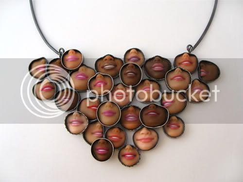 Barbie Smiley Necklace on Torque - Margaux Lange