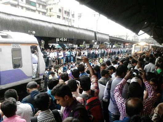 Train services resume at Badlapur station - Times of India