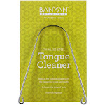 Tongue Scraper - Tongue Cleaner - Metal Tongue Scraper - Stainless Steel - Banyan Botanicals by Banyan Botanicals