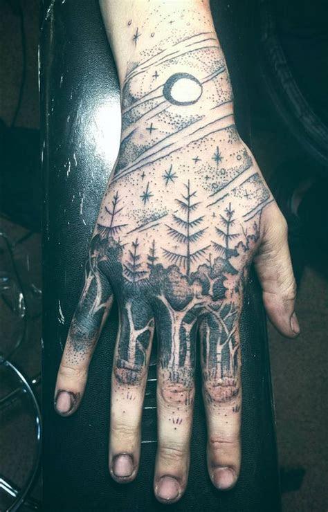 amazing nature themed tattoo hand tattoos guys