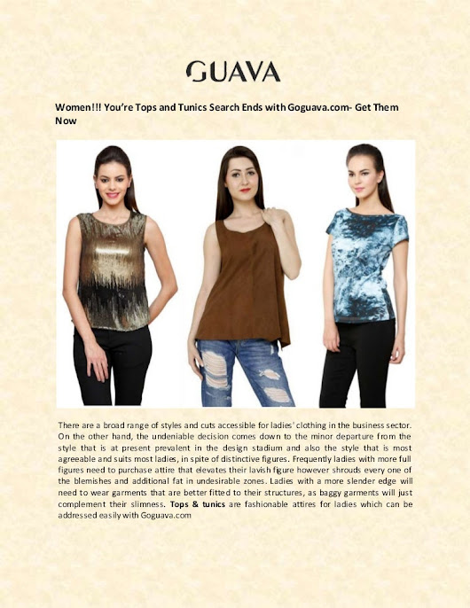 Buy Online Tops and tunics