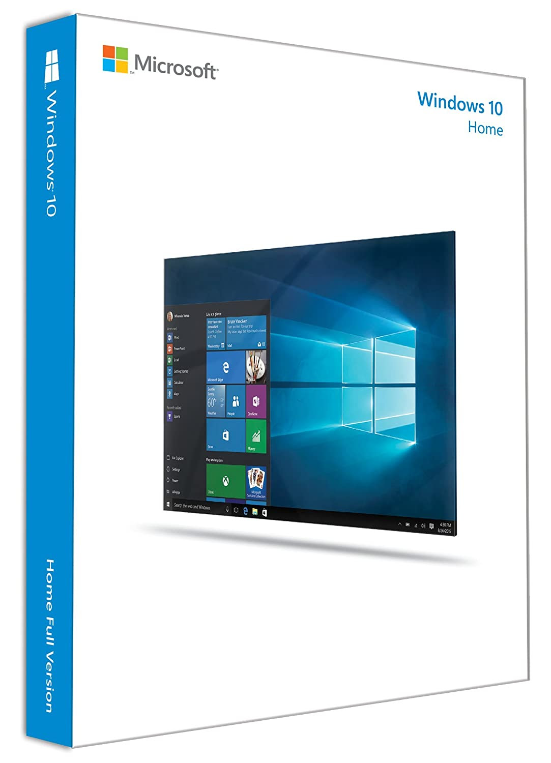 Deals on Microsoft Windows 10 Home 32Bit/64Bit English INTL for 1 PC/ User: 32 and 64 Bits on USB 3.0 Included - Full Retail Pack