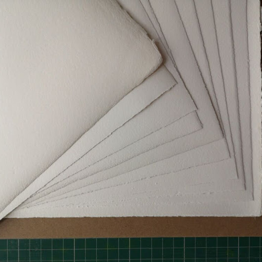Details about Handmade vintage 1950/60s watercolour, drawing & printmaking paper. Top quality