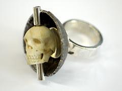 Kinetic Skull Ring 5