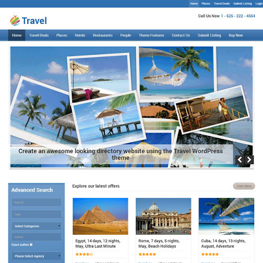 Travel WordPress Theme by Templatic | Best WordPress Themes 2014