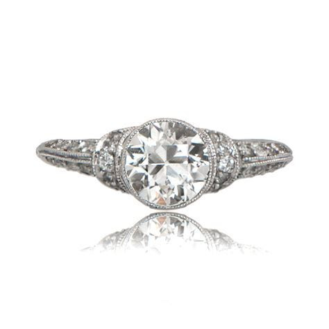 Art Deco Style Engagement Ring   Estate Diamond Jewelry