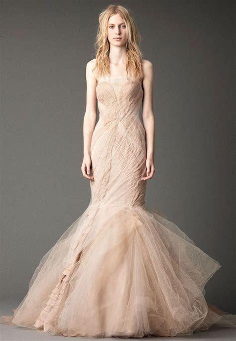 Blush Wedding Dresses With Classic Details   MODwedding