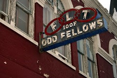 odd fellows neon sign