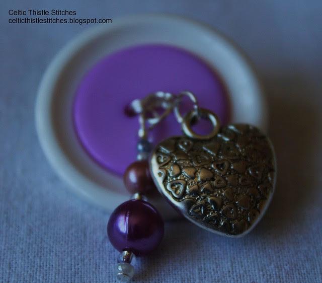 Wired Button Brooch