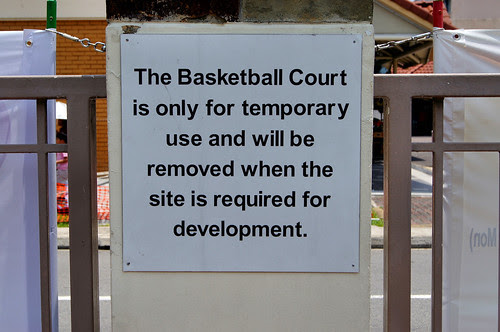 Sign inside Teck Ghee Community Club