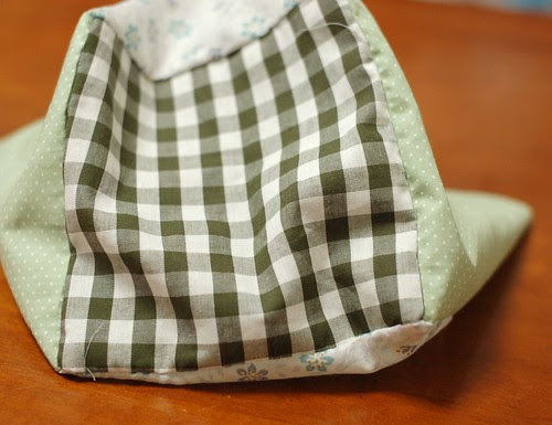 How to make a patchwork cube drawstring bag 7