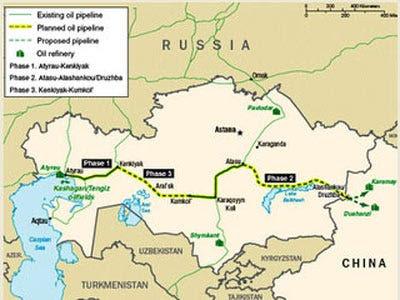 SCO Growth: Kazakhstan-China Pipeline
