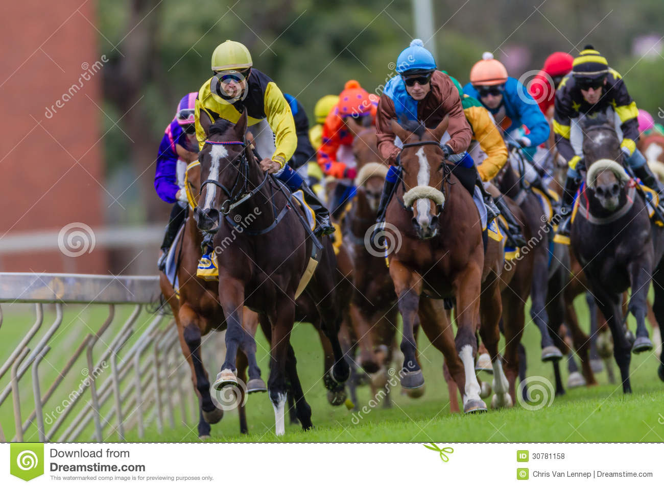 Horse Racing Jockeys Colors Editorial Stock Photo - Image ...