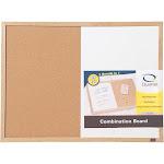 "Quartet 2-in-1 Combo Dry Erase/Cork Board 23""x17"" Oak Finish Frame"