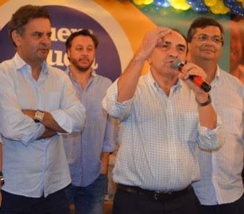 Prefeito Sebastião Madeira declarando apoio a Flávio Dino