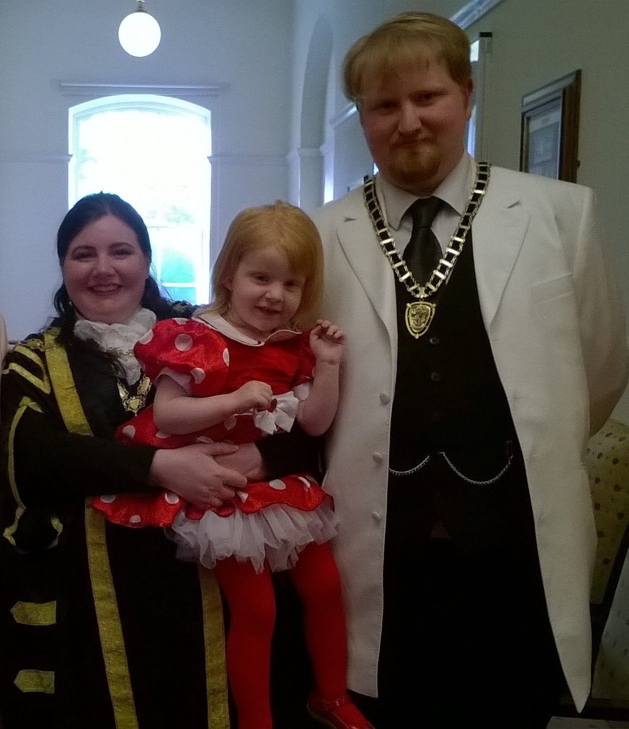 Me, Anthony and Marianna at Torfaen Mayor Making Ceremony