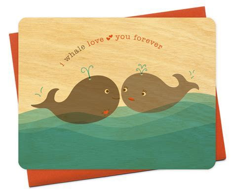 whale love you ? Anniversary ? Cards « Night Owl Paper