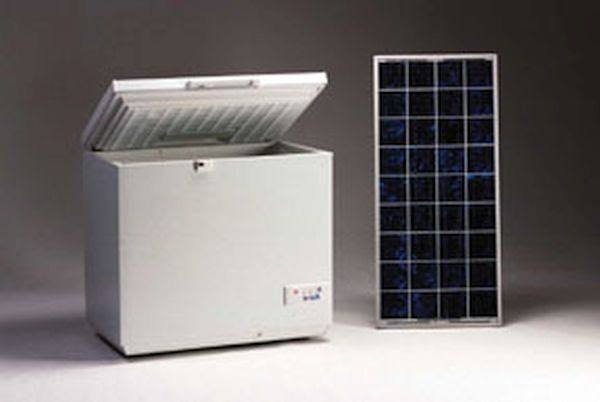 Solar powered fridge