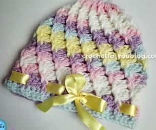 Pastel Peaks Baby Hat