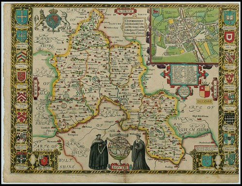 Oxfordshire, England - John Speed proof maps 1605-1610