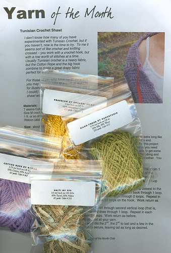click onto the image if you'd like to learn the names of the yarn samples sent this month.