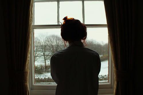 Harley, Window & Snow.