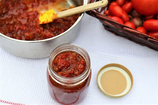 Savory and Sweet Tomato Chutney - The Kitchen Docs