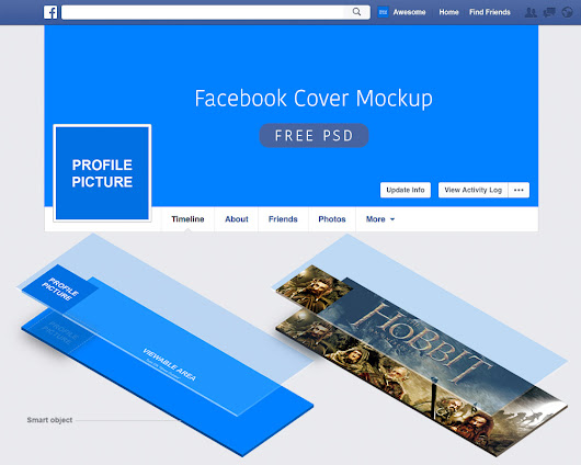 Facebook Cover Mockup Free PSD Download - Download PSD