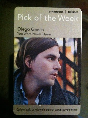 Starbucks ITunes Pick of the Week - Diego Garcia - You Were Never There