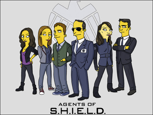 agents of s.h.i.e.l.d. simpsons style