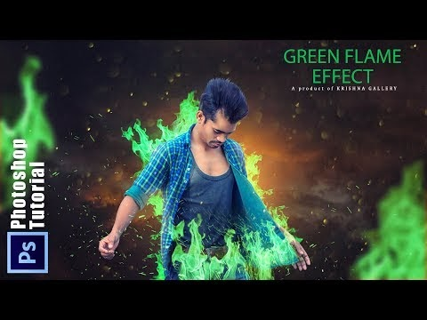 Photoshop Manipulation Green Flame Effect New Awesome Editing || Phtosho...