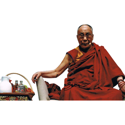 Dalai Lama Autograph on 12 x 8 Photo. CoA from curioshop on Ruby Lane