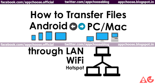Transfer files between Android and PC through LAN