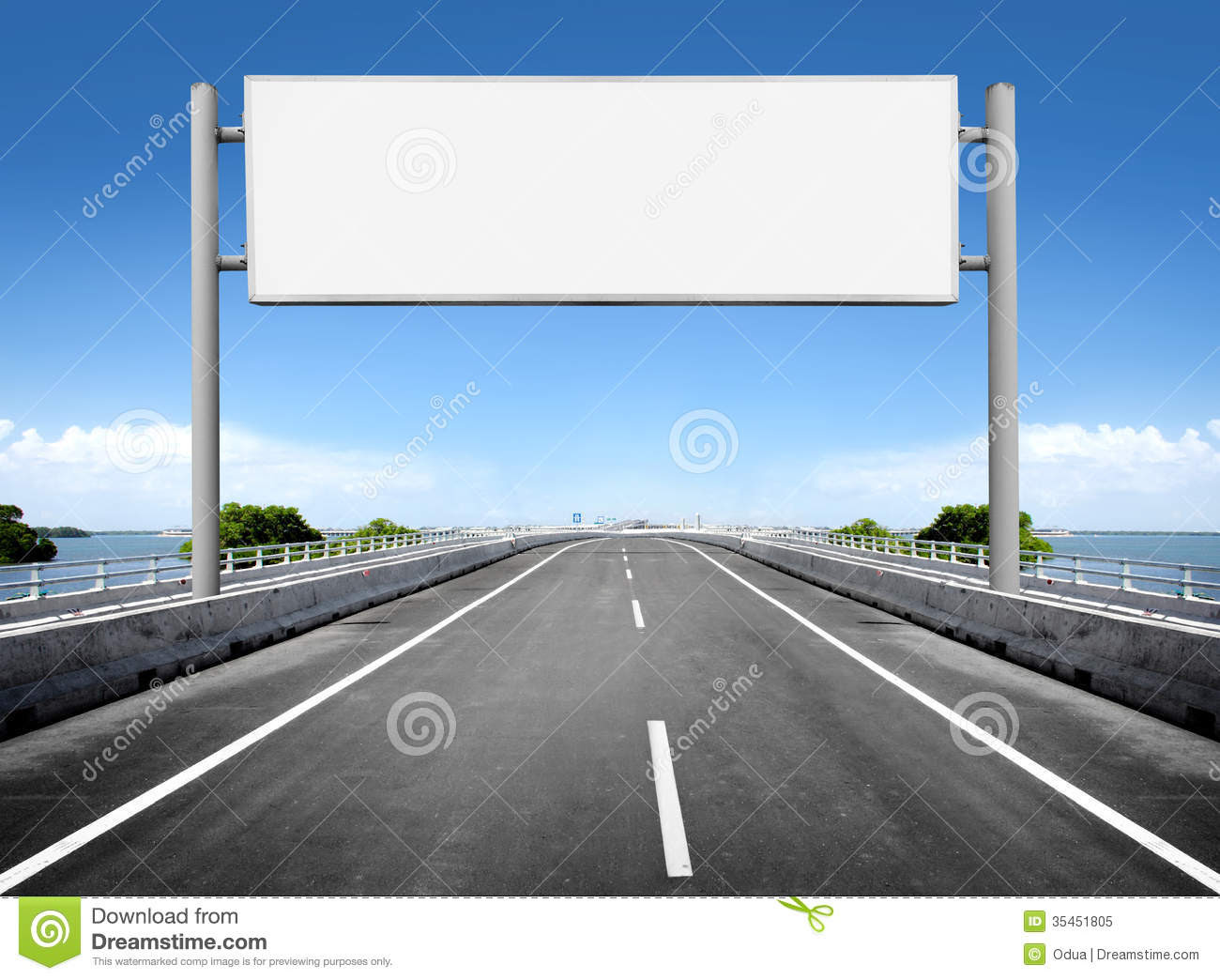 Blank Billboard Or Road Sign Royalty Free Stock Photo - Image ...