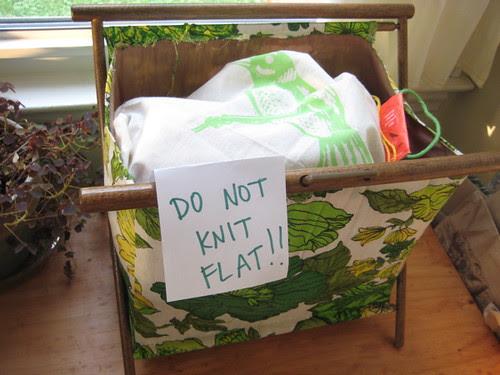 no flat knitting