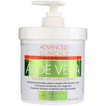Advanced Clinicals Aloe Vera Soothe + Recover Cream, 16 oz