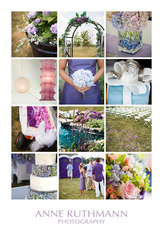 Lavender & Tiffany Blue Wedding Inspiration Board