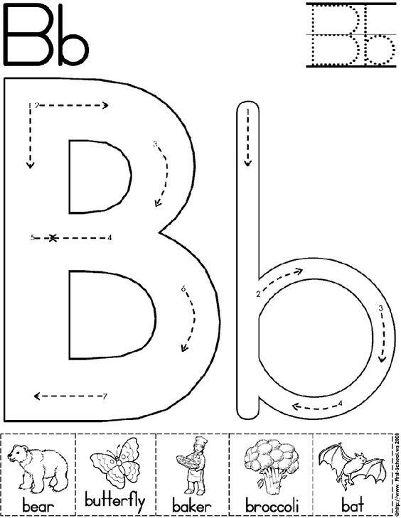 abc worksheet letter b | Alphabet Letter B Worksheet | Preschool ...